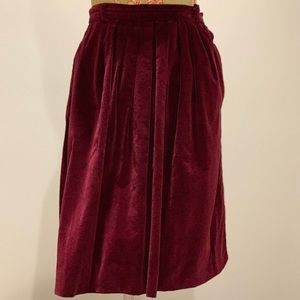 Vintage Purple Velvet Skirt